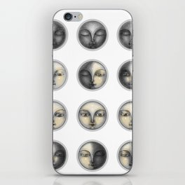 moon phases and romanticism iPhone Skin