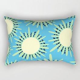 Kiwi Sun Print   Kiwi Print   Summer   Fruity Print   pulps of wood Rectangular Pillow