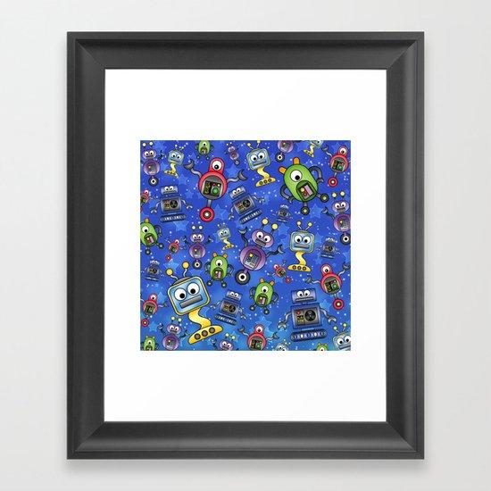 Little Robots  Framed Art Print