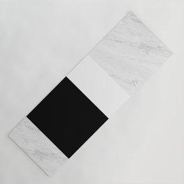 Marble Black White Yoga Mat