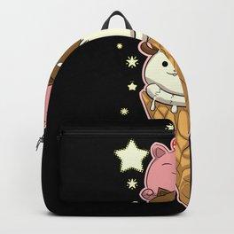 Cute Cat As Ice Cream Kawaii Backpack