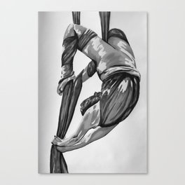 Greyscale bendy wendy Canvas Print