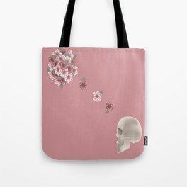 Flourish print pink Tote Bag
