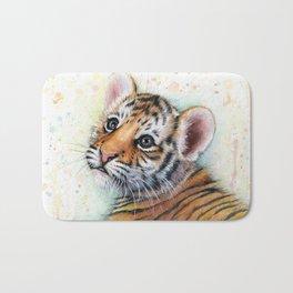 Tiger Cub Cute Baby Animals Bath Mat