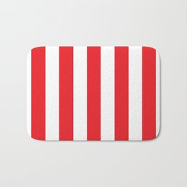 Verizon Red (2000-2015) - solid color - white vertical lines pattern Bath Mat