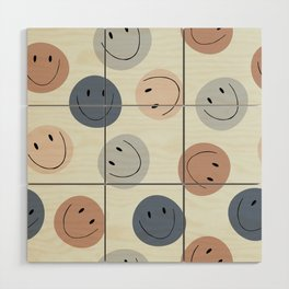 Smiley faces Wood Wall Art