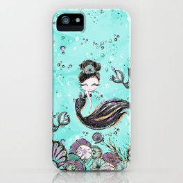 Audrey Mermaid Pattern 10 iPhone Case