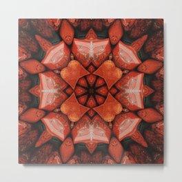 Brecciated Jasper Mandala  Metal Print