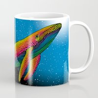the whale Mugs featuring Whale by Luna Portnoi