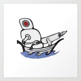 Harpoon Bot Art Print