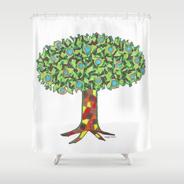 Fruit Tree Shower Curtain