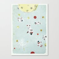 outer space Canvas Prints featuring Outer Space by Max Grünfeld