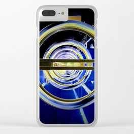 Dry Concentric Circles Clear iPhone Case