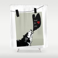 georgia Shower Curtains featuring georgia by love is possible