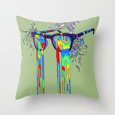 Technicolor Vision Throw Pillow