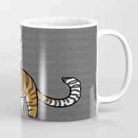 tigers Mugs featuring TIGERs by hoshi-kou