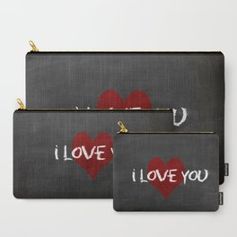 Valentines I love you Chalkboard Design Carry-All Pouch