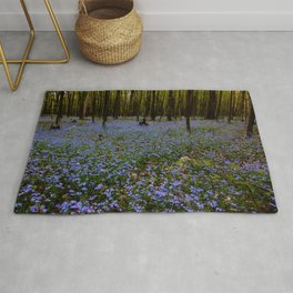 Forget-Me-Not Forest Rug