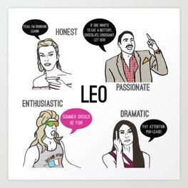 Leo- Bravostrology Series Art Print