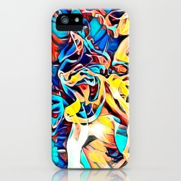 Shredded waves graffitti abstract iPhone Case