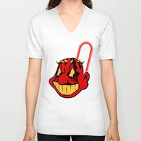 cleveland V-neck T-shirts featuring Cleveland Sithians by Ant Atomic
