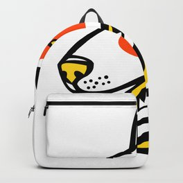 Bull Terrier Dog Mascot Backpack