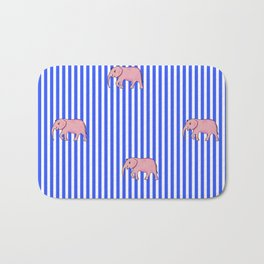 strip and elephants (https://society6.com/vickonskey/collection) Bath Mat
