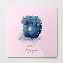 Triste dyr: Apatekatt Metal Print