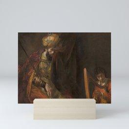 Saul and David - Rembrandt  Mini Art Print