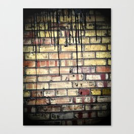 Tar on Brick Canvas Print