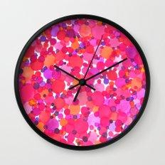 Red Horror Vacui Wall Clock