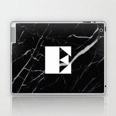 Black Marble - Alphabet E Laptop & iPad Skin