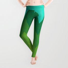 Green Summer Forest Leggings