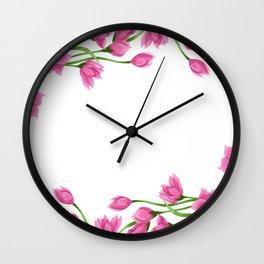Roses crown Wall Clock