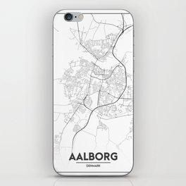 Minimal City Maps - Map Of Aalborg, Denmark. iPhone Skin
