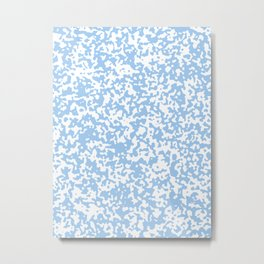 Small Spots - White and Baby Blue Metal Print