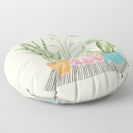 Three Plant Friends Floor Pillow