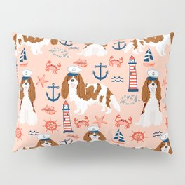 Cavalier King Charles Spaniel nautical sailing lighthouse new england sailboats dog breed Pillow Sham