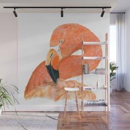 Breezy Flamingo by Teresa Thompson Wall Mural