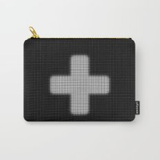 Halftone Plus Black Carry-All Pouch