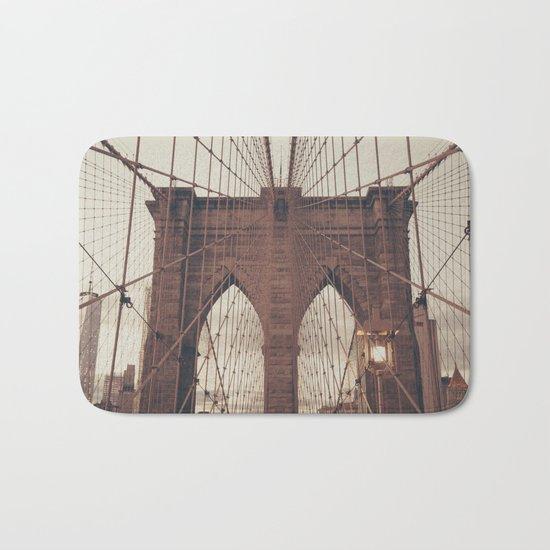 Moody Brooklyn Bridge Bath Mat