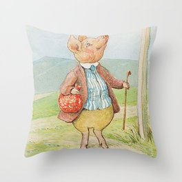 Pigling Bland by Beatrix Potter Throw Pillow