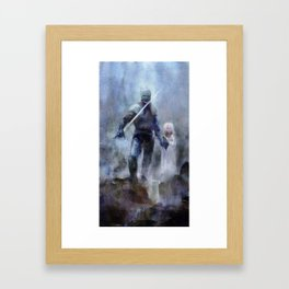 Knight and Girl Framed Art Print