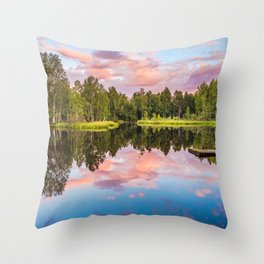 End of the summer day Throw Pillow