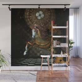 Steampunk,mystical steampunk unicorn Wall Mural