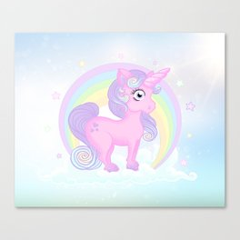 Baby pastel unicorn Canvas Print