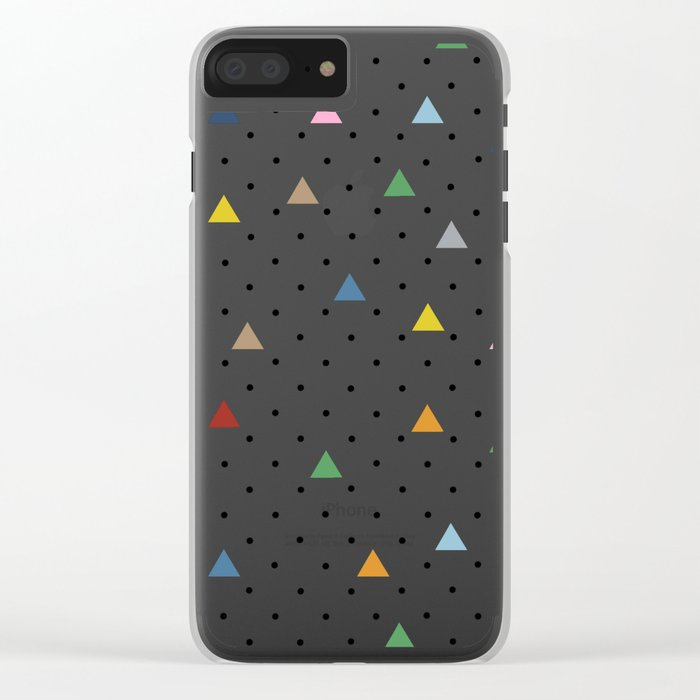 Pin Point Triangles Clear iPhone Case