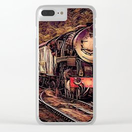 Steam Abstraction Clear iPhone Case