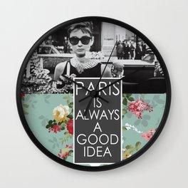 PARIS is always a good idea Wall Clock