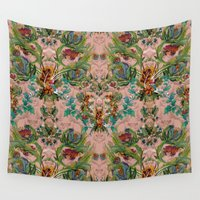 flora Wall Tapestries featuring Flora by Julia Bianchi